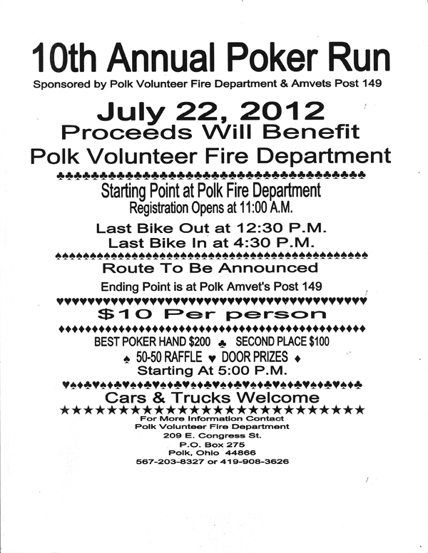 10th Annual Poker Run