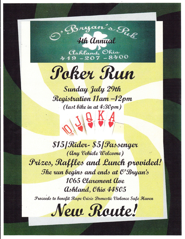 O'Bryan's 4th Annual Poker Run
