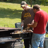 Prepping the Hog for the Grand Opening Hog Roast, 2012