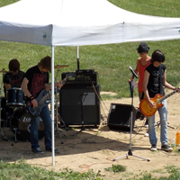 Our guest band, Black Scarlet, on Grand Opening Day, 2012